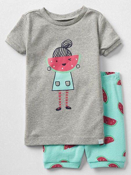 GAP Kids Watermelon Girl Short Sleep Set