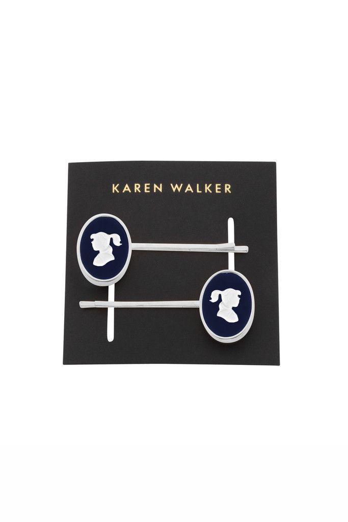Girl Cameo Hairclips - Karen Walker