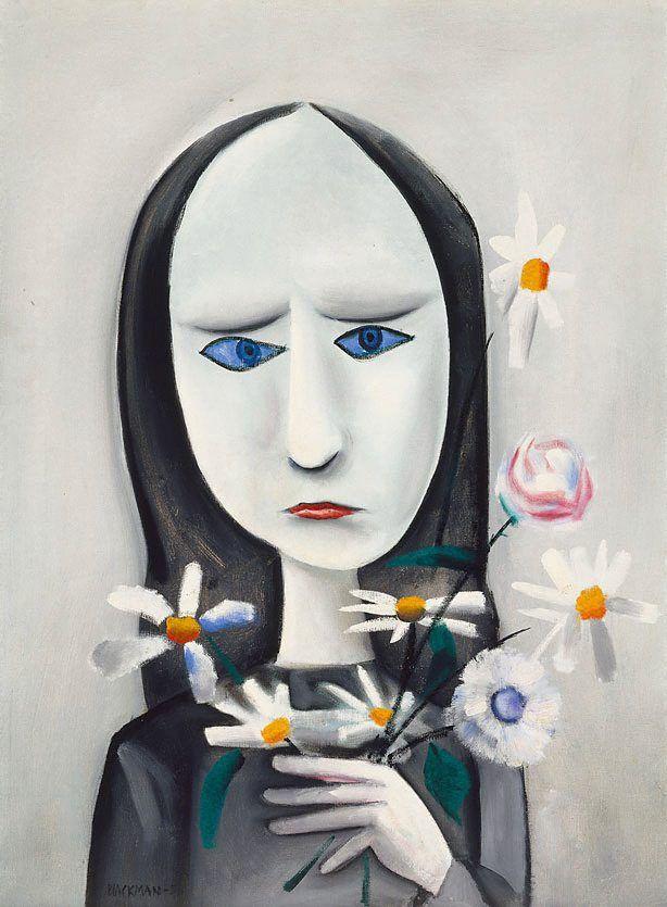 Charles Blackman ~ Angry young girl, 1958