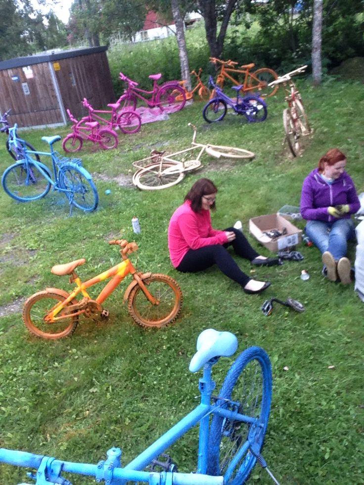 Lakking av sykler