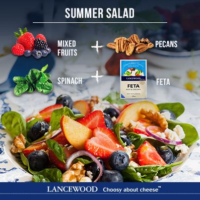 Simple Summer Salad   Toss with your favourite Honey & Mustard Vinaigrette and enjoy!