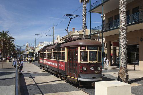 'Red rattler' tram from Adelaide to Mosely Square Glenelg Adelaide City South Australia • Adelaide's best