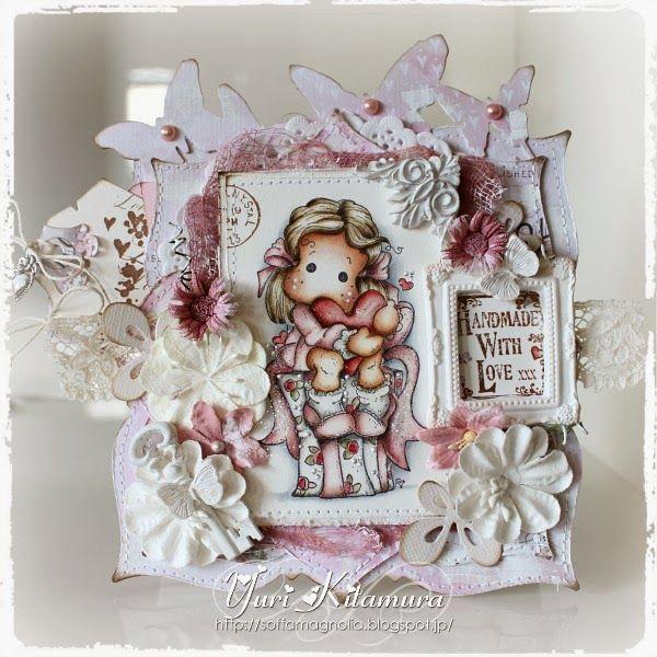 Yuri's Magnolia Blog: Tilda With Spring Heart - DT card for A Creative Romance