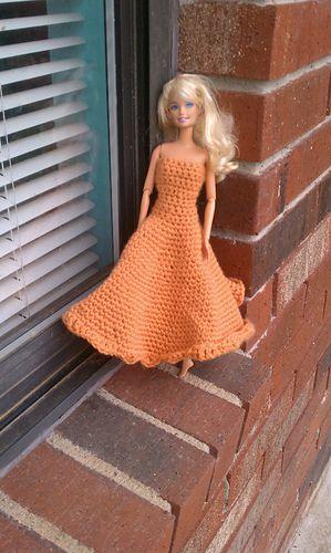 Barbie Gown ~ Free Crochet Ravelry Download | Abigail's Crochet World