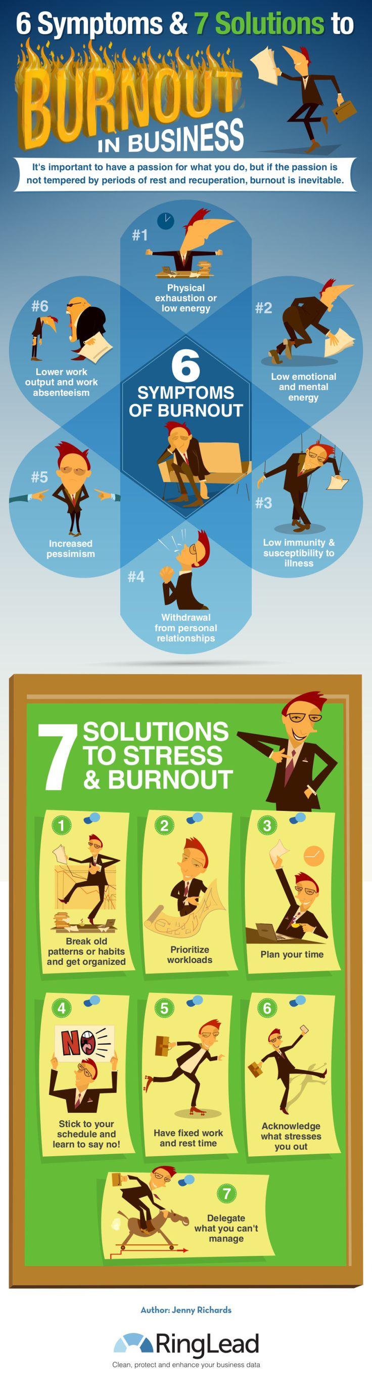 best ideas about burnout symptome go 6 siacutentomas y 7 soluciones al siacutendrome de burnout