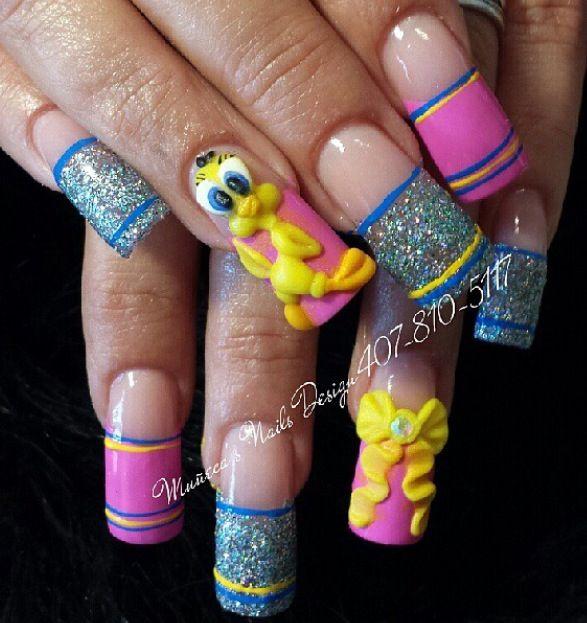 tweety nails