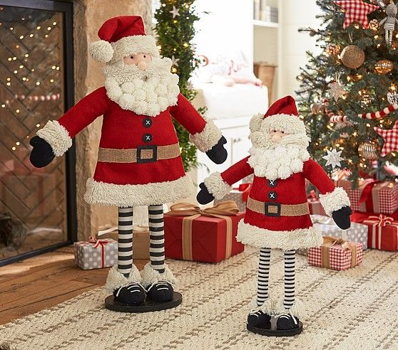 Santa Hearth Plush Decor | Pottery Barn Kids
