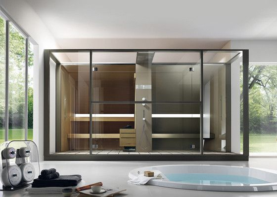 Sauna and steam room combine in one module