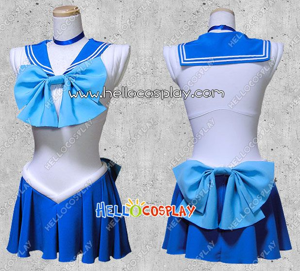 Sailor Moon Cosplay Sailor Mercury Mizuno Ami Costume- now that I have a sewing machine I can SEW make this ;D!