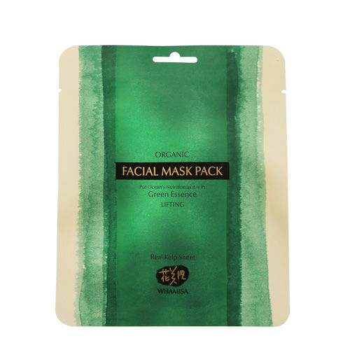 Whamisa Organic Kelp Mask is a 100% sea kelp sheet mask made with 32 natural and organic ingredients. This unique mask is packed with nutrients and alginic acid for healthy and youthful skin. The nutrients in this mask help to reduce wrinkles and puffiness, minimize pores, brighten and improve complexion. Leaves skin moisturized for up to 72 hours (Clinically tested by Kyung Hee University- Skin Biotechnology Centre).