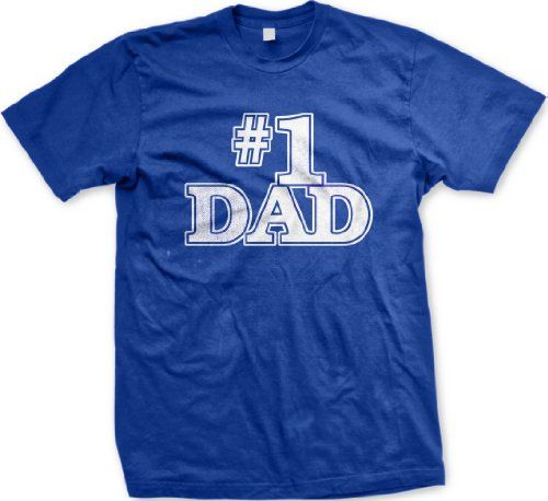 #1 Dad Mens T-shirt Number One Dad Fathers Day Mens Tee Shirt X-Large Royal