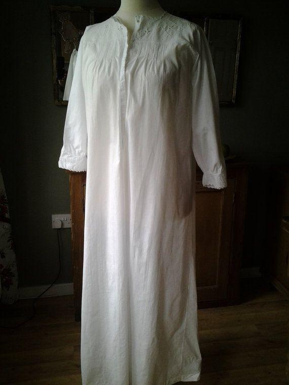 VERKAUF WERBEANTWORT UK Vintage französische Nachthemd