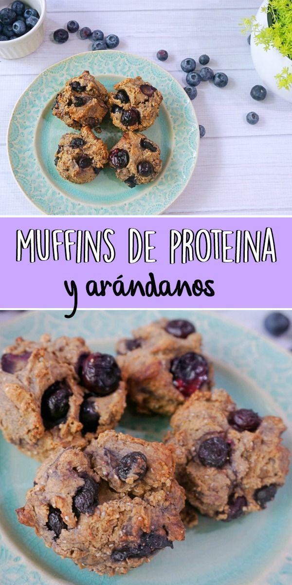 Muffins saludables #muffinsfit #healthymuffins #muffins #arandanos #muffinsdeproteina #recetasconproteina #fitness #recetassaludables
