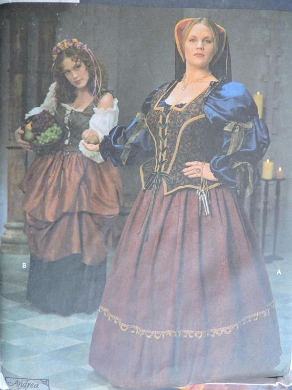 Dress Gown Medieval Renaissance Historic Costume Stage Play
