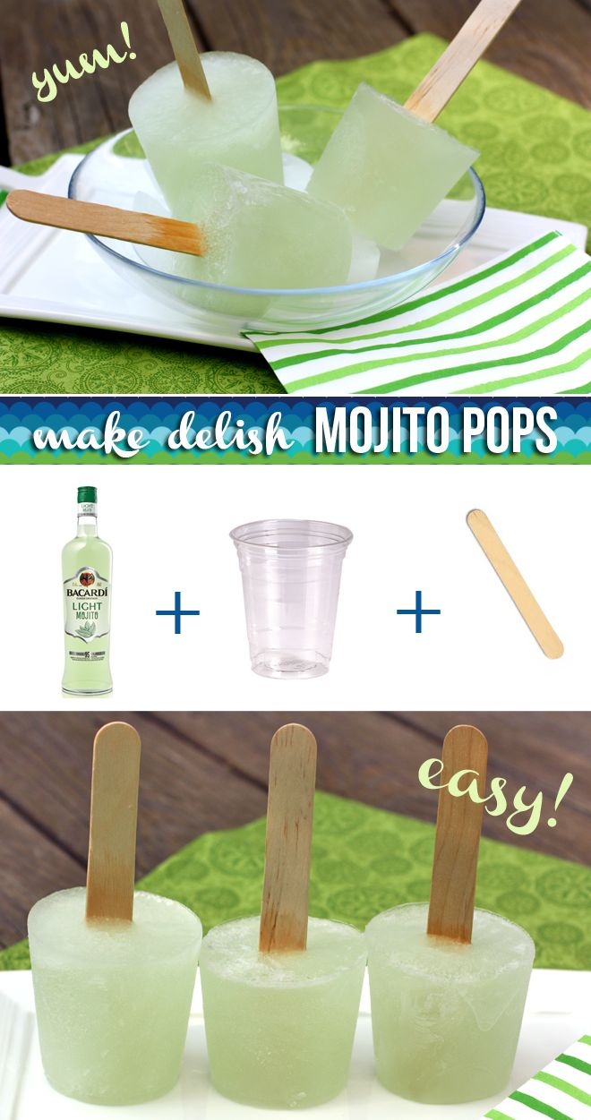 SUPER EASY Mojito Popsicles! Perfect treat idea for Parties!