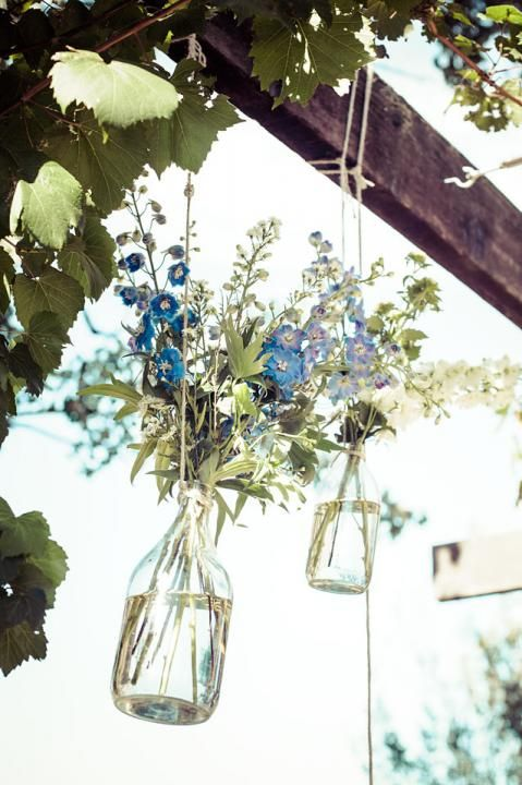 Hanging Flowers / Sam & Liam's Rustic Garden Wedding