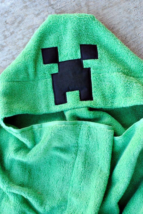 Minecraft Creeper Hooded Towel Tutorial