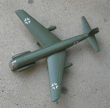 Junkers Ju 287 experiment multi-jet engine bomber of the Luftwaffe.