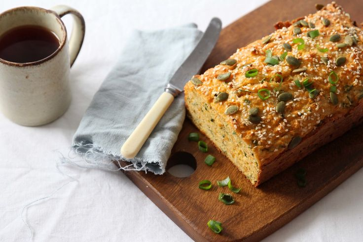 GF cheddar, sweet potato & spring onion loaf