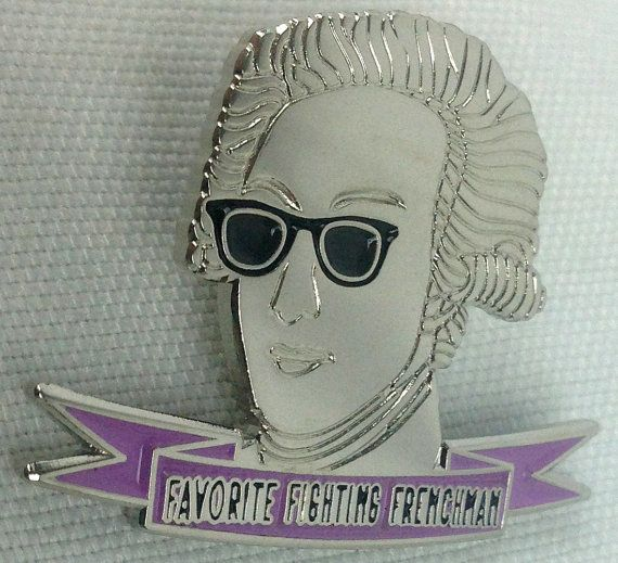 Hipster Marquis de Lafayette Pin by LoganArch on Etsy