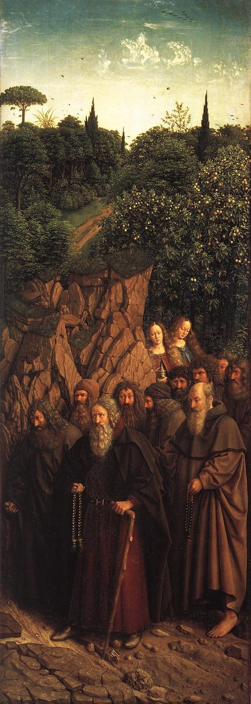 JAN VAN EYCK (1395-1441) - The Ghent Altarpiece -  The Holy Hermits - 1432. Sint-Baafskathedraal (Cathedral of St Bavo), Gent, Belgium.