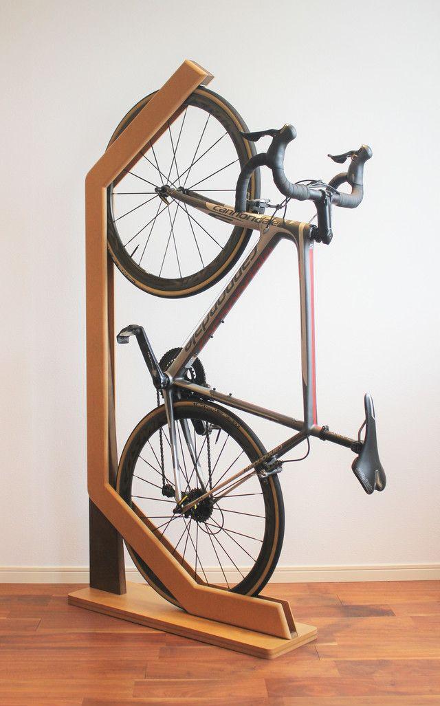 愛車をインテリアに 木製自転車スタンド ウィリースタンド 株式会社オークマ 2020 自転車スタンド 自転車 自転車収納