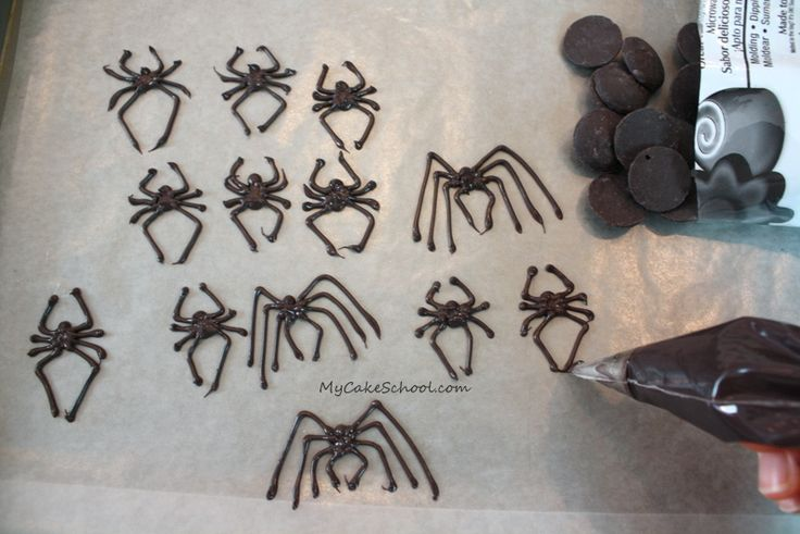 Making Chocolate Spiders!~ MyCakeSchool.com Tutorial