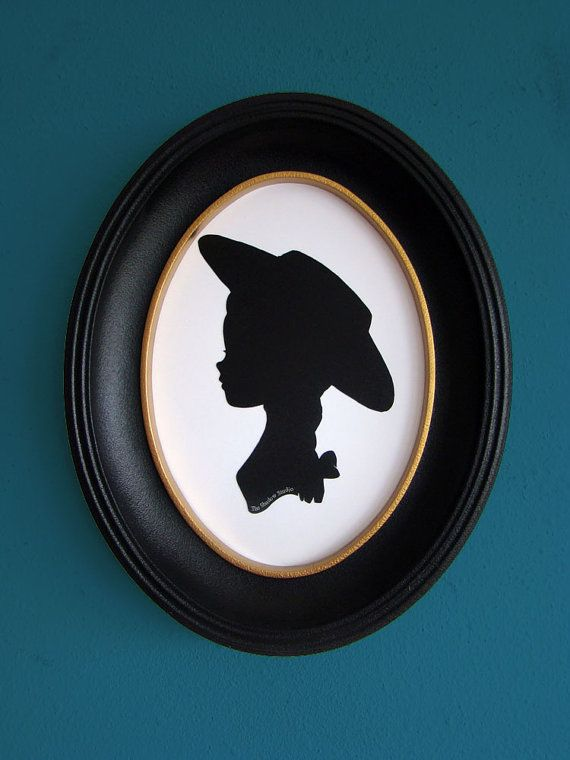 Jessie the Yodeling Cowgirl from Toy Story Hand-Cut Paper Silhouette Portrait