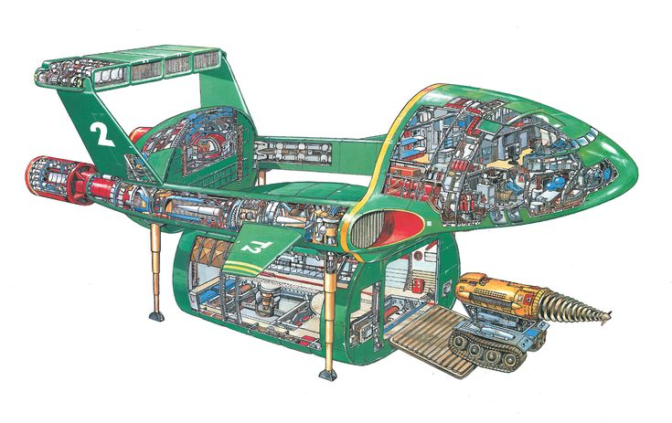 Thunderbird 2 A British (and International) icon They don't design like this any more (And we don't see drawings like this any more either) From the Thunderbirds Secret Files http://www.amazon.co.uk/Thunderbirds-Secret-Files-Inside-International/dp/1844429776/ref=sr_1_sc_1?ie=UTF8=1345476986=8-1-spell