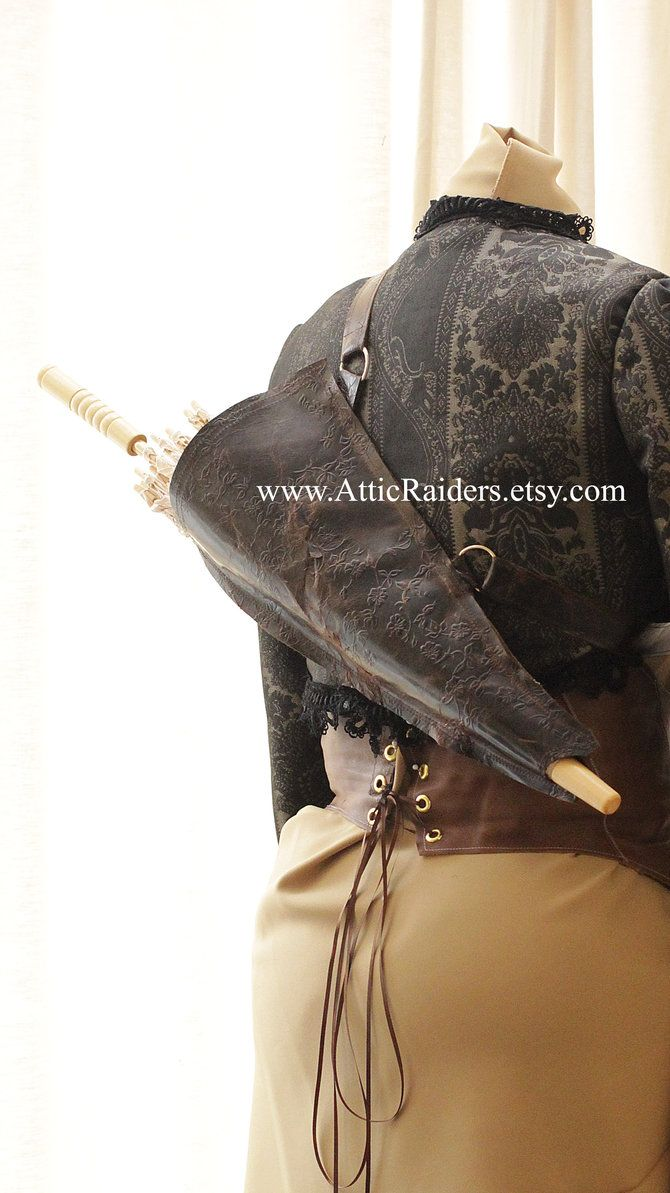 Steampunk Leather Parasol Protector by AtticRaiders