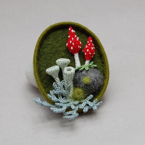 Custom order  Woodland whimsy brooch by elinart on Etsy