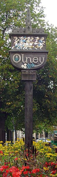 Sign in Olney, England...my grans family namesake.