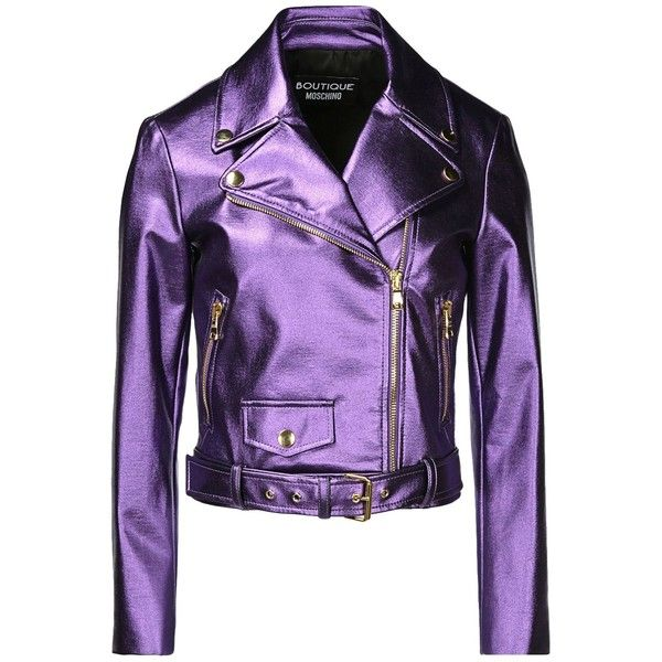 Boutique Moschino Blazer ($985) ❤ liked on Polyvore featuring outerwear, jackets, blazers, purple, zip jacket, zipper jacket, purple jacket, long sleeve jacket and purple blazer