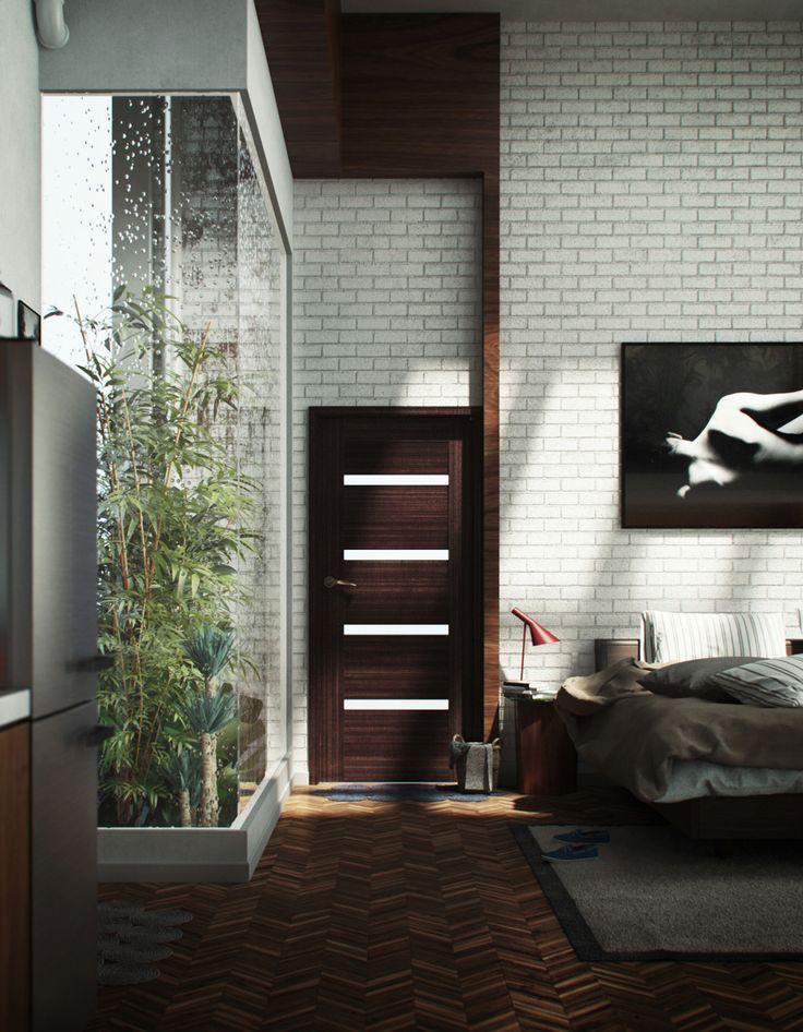 moderne loftwohnung spanien umkleideraum schuhe spiegel