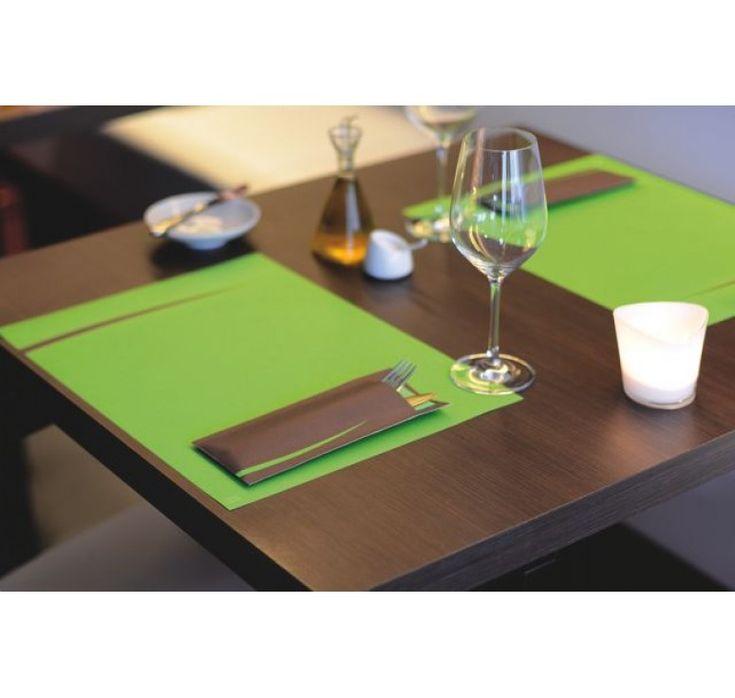 Suport Tacam Bari  Maro  servetel clasic verde 8,5x20 cm/600buc.