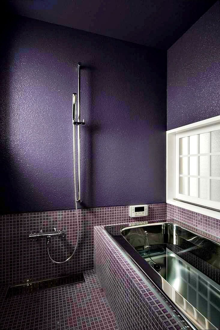 120 best purple bathrooms images on pinterest | purple bathrooms
