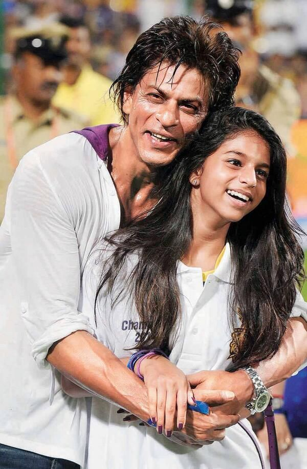 with Suhana after KKR won the IP7 T20 cup June 2014