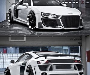 Audi R8 with V10 stage two turbocharger is a car from hell