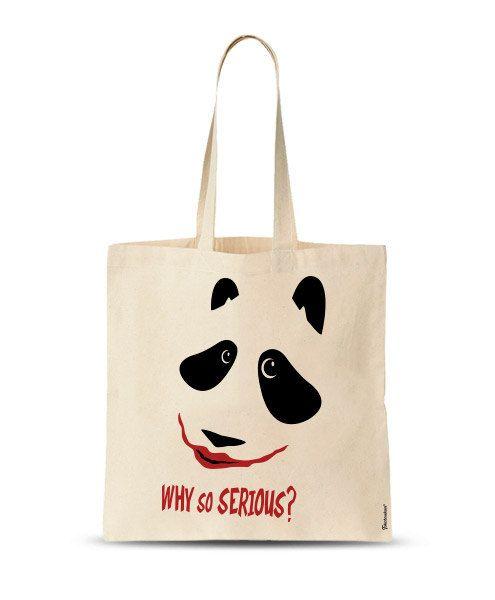 Tote Bag Why So serious market bag panda bag Custom by store365