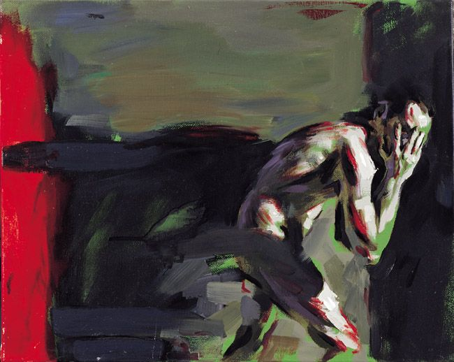 red-lipstick:  Adrianos Sotiris (b. 1977, Athens, Greece) - Figure Depented From The Shadow IV (Self Portrait)  Paintings: Oil on Canvas