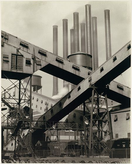Charles Sheeler: Criss-Crossed Conveyors, River Rouge Plant, Ford Motor Company (1927). Charles Sheeler