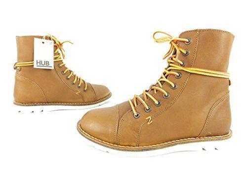HUB Booties Schnürstiefelette Boots - 41 - braun - Modell: Waterloo - http://on-line-kaufen.de/hub/hub-booties-schnuerstiefelette-boots-41-braun