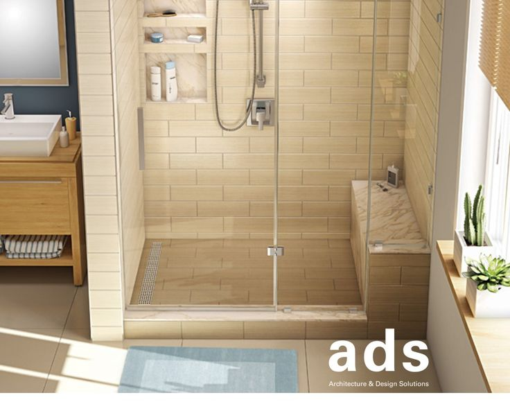 Tile Redi X Alcove Shower Pan With Single Curb Bench A Black Showers Pans Floor Mount