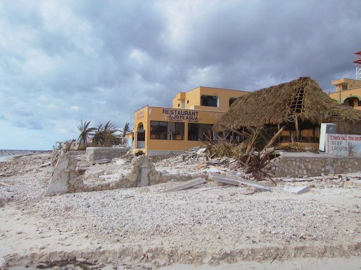 Ojo de agua --  Hurricane Wilma was the most intense tropical cyclone ever recorded in the Atlantic basin. photos Puerto Morelos