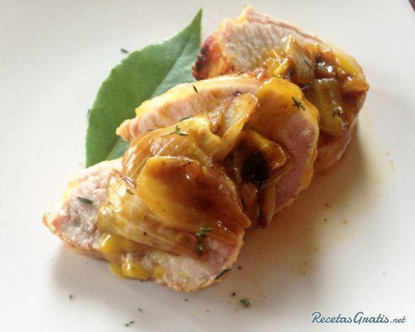 Solomillo de cerdo al horno con miel y mostaza