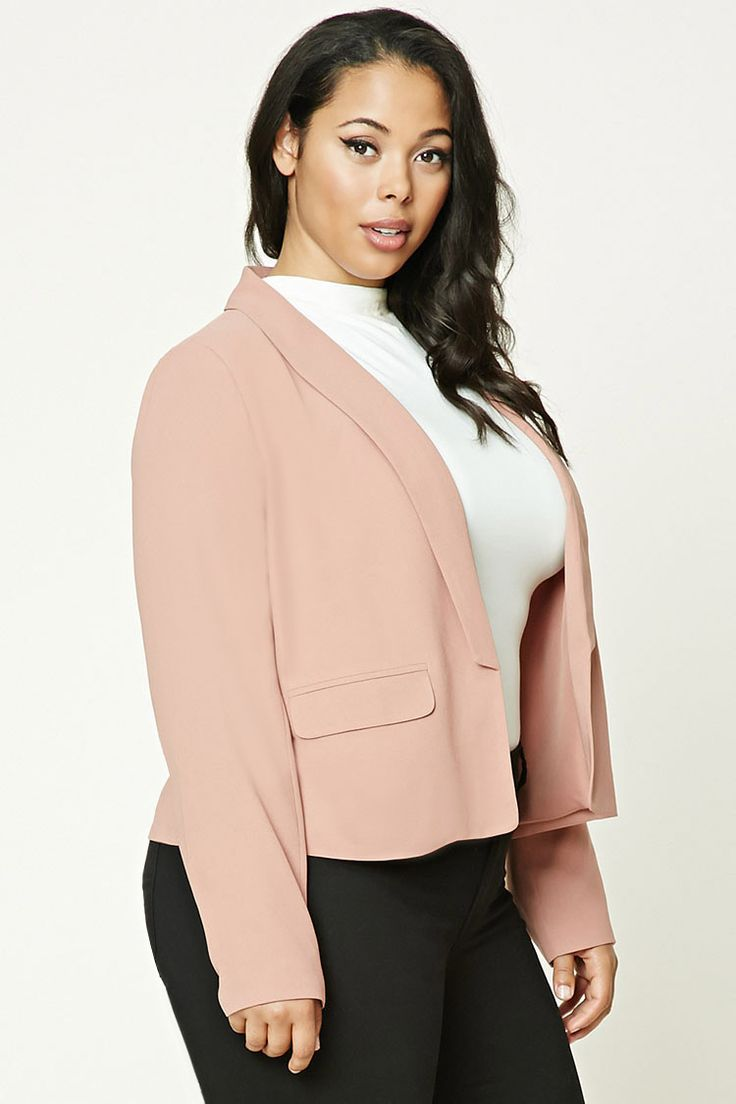 Plus Size Shawl Collar Blazer
