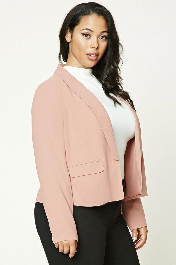 Plus Size Shawl Collar Blazer