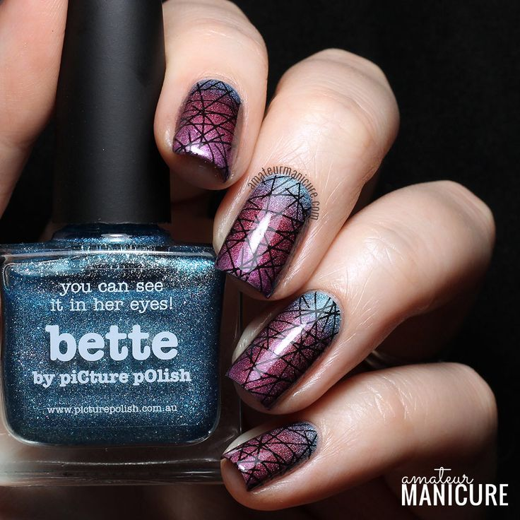 73 best rebeccas nail salon images on pinterest cute nails tri holo lined gradient nail art prinsesfo Gallery
