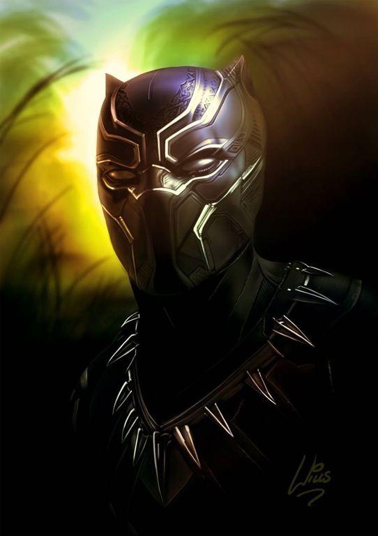 Beautiful Black Panther art (credit to Richard Williams)