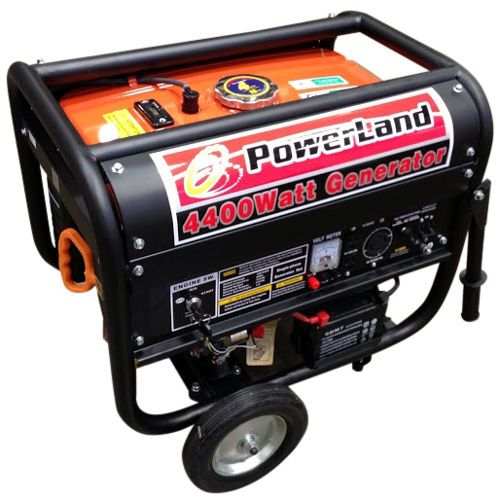 $400 shipped; 3500w/4400w peak; 4 gal with gauge; runs 10hrs @50% (website is incorrect); low oil shut-off, battery, wheels, 69dB; (2) 120v (20A) outlets, (1) 120/240v (30A) outlet, and (1) 12V (10A) DC; 117lbs